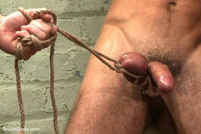 Photo number 10 from The Slaughterhouse: Part 2 <br />Fun in the Slaughterhouse shot for Bound Gods on Kink.com. Featuring Luke Riley, Jesse Alan and DJ in hardcore BDSM & Fetish porn.