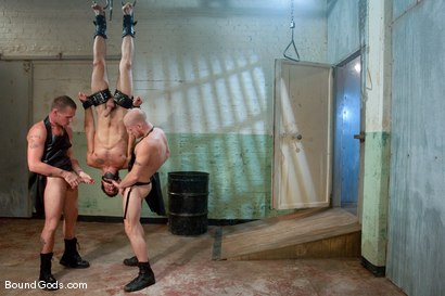 Photo number 6 from The Slaughterhouse: Part 2 <br />Fun in the Slaughterhouse shot for Bound Gods on Kink.com. Featuring Luke Riley, Jesse Alan and DJ in hardcore BDSM & Fetish porn.