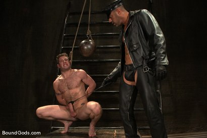 Photo number 1 from The Leather Daddy and His Boy shot for Bound Gods on Kink.com. Featuring CJ Madison and Dean Tucker in hardcore BDSM & Fetish porn.