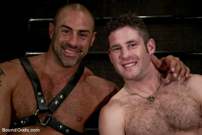 Photo number 15 from The Leather Daddy and His Boy shot for Bound Gods on Kink.com. Featuring CJ Madison and Dean Tucker in hardcore BDSM & Fetish porn.