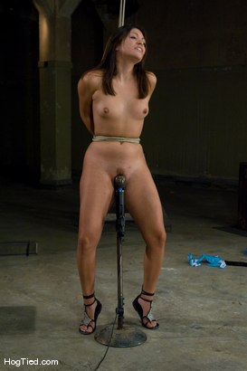 Photo number 12 from Amateur Casting Couch: Thea Marie... stripper/porn star, new bondage slut shot for Hogtied on Kink.com. Featuring Thea Marie in hardcore BDSM & Fetish porn.