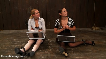Photo number 2 from Amber Rayne, Rain DeGrey, and Ariel X  Part 1 of 4 of the October Live show shot for devicebondage on Kink.com. Featuring Amber Rayne, Ariel X and Rain DeGrey in hardcore BDSM & Fetish porn.