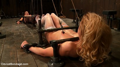 Photo number 14 from Amber Rayne, Rain DeGrey, and Ariel X  Part 1 of 4 of the October Live show shot for devicebondage on Kink.com. Featuring Amber Rayne, Ariel X and Rain DeGrey in hardcore BDSM & Fetish porn.