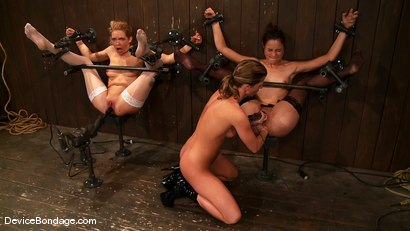 Photo number 9 from Amber Rayne, Rain DeGrey, and Ariel X<br> Part 2 of 4 of the October Live show shot for Device Bondage on Kink.com. Featuring Amber Rayne, Ariel X and Rain DeGrey in hardcore BDSM & Fetish porn.
