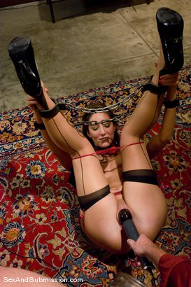 Photo number 9 from Angelica Saige shot for Sex And Submission on Kink.com. Featuring Mark Davis and Angelica Saige in hardcore BDSM & Fetish porn.