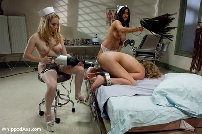 Photo number 10 from Kinky Evil Nurses shot for Whipped Ass on Kink.com. Featuring Aiden Starr, Jessie Cox and Isis Love in hardcore BDSM & Fetish porn.
