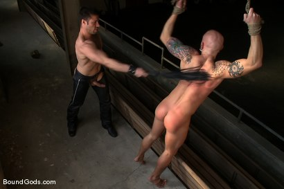 Photo number 6 from Character shot for Bound Gods on Kink.com. Featuring Drake Jaden and Tristan Jaxx in hardcore BDSM & Fetish porn.