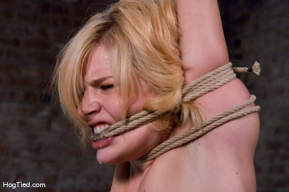 Photo number 3 from Ally Ann: Whining bitch takes what is given to her shot for Hogtied on Kink.com. Featuring Ally Ann in hardcore BDSM & Fetish porn.