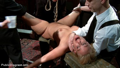 Photo number 13 from Mellanie Monroe: Big Tittied Milf is used as the Armory Fuck Hole for a Night shot for Public Disgrace on Kink.com. Featuring John Strong and Mellanie Monroe in hardcore BDSM & Fetish porn.