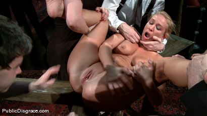 Photo number 14 from Mellanie Monroe: Big Tittied Milf is used as the Armory Fuck Hole for a Night shot for Public Disgrace on Kink.com. Featuring John Strong and Mellanie Monroe in hardcore BDSM & Fetish porn.