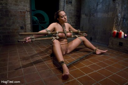 Photo number 11 from Tongue Tied & Tit Tormented Trina Michaels shot for Hogtied on Kink.com. Featuring Trina Michaels in hardcore BDSM & Fetish porn.