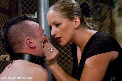 Photo number 5 from Training of a Hellhound Episode: 2 shot for Divine Bitches on Kink.com. Featuring Dia Zerva and Derrick P. in hardcore BDSM & Fetish porn.