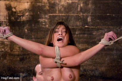 Photo number 3 from The smile has been wiped off Thea's face  shot for Hogtied on Kink.com. Featuring Thea Marie in hardcore BDSM & Fetish porn.