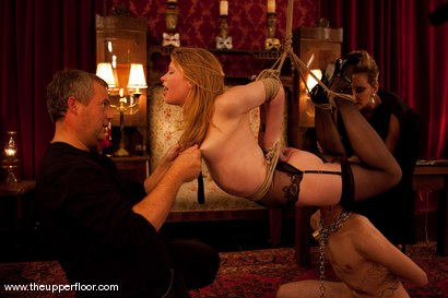 Photo number 12 from Boxing Day shot for The Upper Floor on Kink.com. Featuring Maestro, Kade, Charlotte Vale, Sarah Shevon and Maggie Mayhem in hardcore BDSM & Fetish porn.
