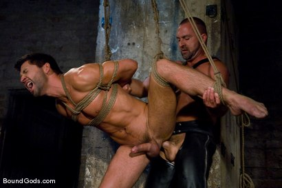 Photo number 4 from Good Boy shot for Bound Gods on Kink.com. Featuring Josh West and Dominic Pacifico in hardcore BDSM & Fetish porn.