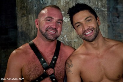 Photo number 15 from Good Boy shot for Bound Gods on Kink.com. Featuring Josh West and Dominic Pacifico in hardcore BDSM & Fetish porn.