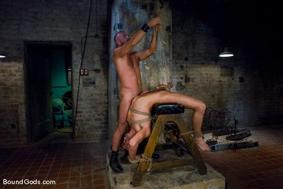 Photo number 10 from Good Boy shot for Bound Gods on Kink.com. Featuring Josh West and Dominic Pacifico in hardcore BDSM & Fetish porn.