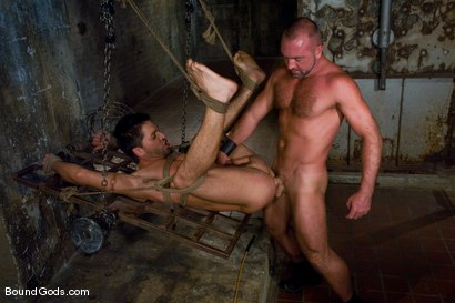Photo number 13 from Good Boy shot for Bound Gods on Kink.com. Featuring Josh West and Dominic Pacifico in hardcore BDSM & Fetish porn.