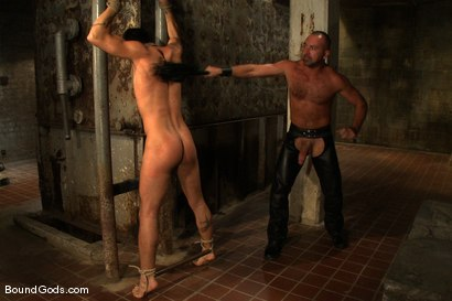 Photo number 6 from Good Boy shot for Bound Gods on Kink.com. Featuring Josh West and Dominic Pacifico in hardcore BDSM & Fetish porn.
