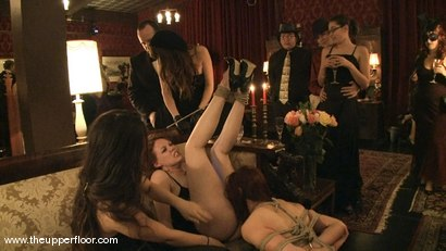 Photo number 15 from New Year Orgy shot for The Upper Floor on Kink.com. Featuring Cherry Torn and Hollie Stevens in hardcore BDSM & Fetish porn.