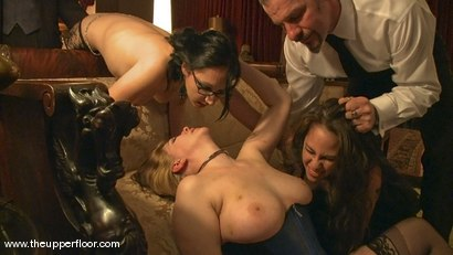 Photo number 11 from New Year Orgy shot for The Upper Floor on Kink.com. Featuring Cherry Torn and Hollie Stevens in hardcore BDSM & Fetish porn.