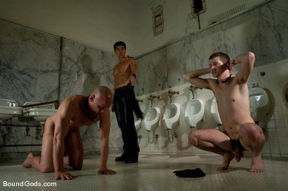 Photo number 2 from Housekeeping shot for Bound Gods on Kink.com. Featuring Van Darkholme, Devin Moss and Chad Rock in hardcore BDSM & Fetish porn.