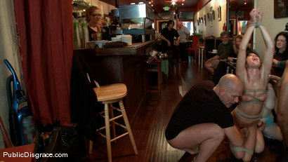 Photo number 8 from Wicked Grounds shot for Public Disgrace on Kink.com. Featuring Sadie West and Mark Davis in hardcore BDSM & Fetish porn.