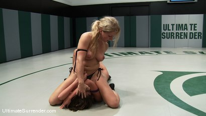 """Photo number 5 from Dia """"Iron Maiden"""" Zerva (0-0)<br>vs<br>Angelica """"The Empress"""" Sage (0-0) shot for Ultimate Surrender on Kink.com. Featuring Dia Zerva and Angelica Saige in hardcore BDSM & Fetish porn."""
