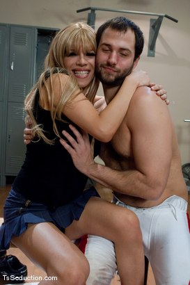 Photo number 15 from Jesse  locker room fucking shot for TS Seduction on Kink.com. Featuring David Chase and Jesse in hardcore BDSM & Fetish porn.