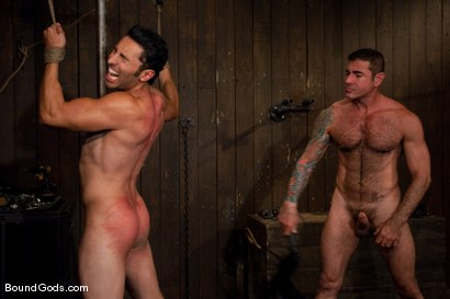 Photo number 7 from Slick Nick shot for Bound Gods on Kink.com. Featuring Gianni Luca and Nick Moretti in hardcore BDSM & Fetish porn.