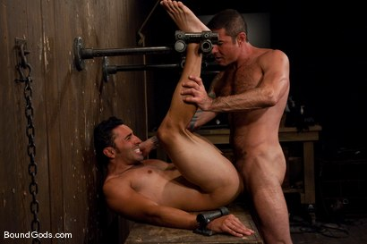 Photo number 12 from Slick Nick shot for Bound Gods on Kink.com. Featuring Gianni Luca and Nick Moretti in hardcore BDSM & Fetish porn.