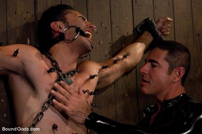 Photo number 6 from Slick Nick shot for Bound Gods on Kink.com. Featuring Gianni Luca and Nick Moretti in hardcore BDSM & Fetish porn.