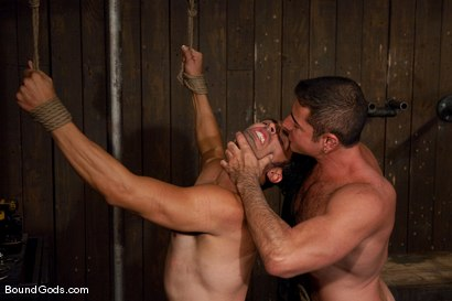 Photo number 8 from Slick Nick shot for Bound Gods on Kink.com. Featuring Gianni Luca and Nick Moretti in hardcore BDSM & Fetish porn.