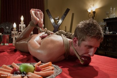 Photo number 3 from CLASSIC ARCHIVE SHOOT! Slaveboy For Dinner! shot for Divine Bitches on Kink.com. Featuring Danny Wylde, Isis Love and Maitresse Madeline Marlowe in hardcore BDSM & Fetish porn.