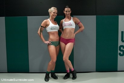 """Photo number 2 from Holly """"The Hit Man"""" Heart (0-1)<br>vs<br>Wenona """"The Gymnast"""" (0-0) shot for Ultimate Surrender on Kink.com. Featuring Wenona and Holly Heart in hardcore BDSM & Fetish porn."""
