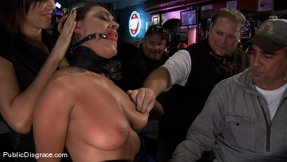 Photo number 1 from Big Tittied Charley Chase  shot for Public Disgrace on Kink.com. Featuring Charley Chase and Mark Davis in hardcore BDSM & Fetish porn.
