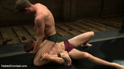 Photo number 2 from Shane Erickson vs Christian Wilde<br />The Oil Match shot for Naked Kombat on Kink.com. Featuring Shane Erickson and Christian Wilde in hardcore BDSM & Fetish porn.