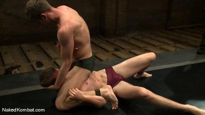 Photo number 2 from Shane Erickson vs Christian Wilde<br />The Oil Match shot for Naked Kombat on Kink.com. Featuring Shane Erickson and Christian Wilde in hardcore BDSM & Fetish porn.