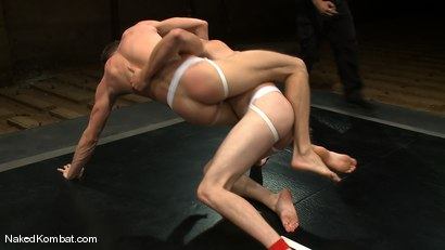 Photo number 4 from Shane Erickson vs Christian Wilde<br />The Oil Match shot for Naked Kombat on Kink.com. Featuring Shane Erickson and Christian Wilde in hardcore BDSM & Fetish porn.