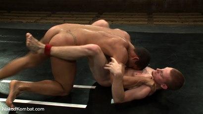 Photo number 10 from Trey Turner vs Sebastian Keys shot for Naked Kombat on Kink.com. Featuring Trey Turner and Sebastian Keys in hardcore BDSM & Fetish porn.