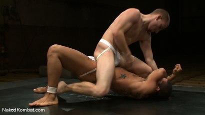 Photo number 5 from Trey Turner vs Sebastian Keys shot for Naked Kombat on Kink.com. Featuring Trey Turner and Sebastian Keys in hardcore BDSM & Fetish porn.
