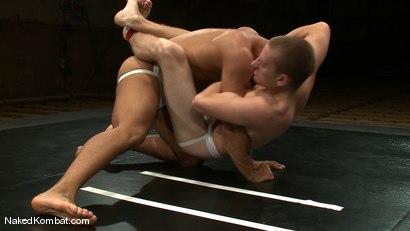 Photo number 6 from Trey Turner vs Sebastian Keys shot for Naked Kombat on Kink.com. Featuring Trey Turner and Sebastian Keys in hardcore BDSM & Fetish porn.