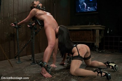 Photo number 8 from Angelica Saige<br>TTOO visits and brings a beaten Jade Indica. shot for Device Bondage on Kink.com. Featuring Angelica Saige in hardcore BDSM & Fetish porn.