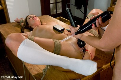 Photo number 13 from Rumor Queen shot for Wired Pussy on Kink.com. Featuring Maitresse Madeline Marlowe and Angelica Saige in hardcore BDSM & Fetish porn.
