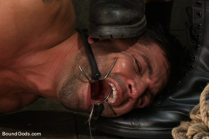 Photo number 4 from Bound Gods First Live Shoot shot for Bound Gods on Kink.com. Featuring Spencer Reed, Van Darkholme and Dominic Pacifico in hardcore BDSM & Fetish porn.