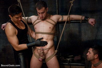 Photo number 1 from Bound Gods First Live Shoot shot for Bound Gods on Kink.com. Featuring Spencer Reed, Van Darkholme and Dominic Pacifico in hardcore BDSM & Fetish porn.