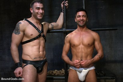 Photo number 15 from Bound Gods First Live Shoot shot for Bound Gods on Kink.com. Featuring Spencer Reed, Van Darkholme and Dominic Pacifico in hardcore BDSM & Fetish porn.
