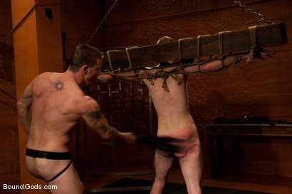 Photo number 6 from Deep in The Woods shot for Bound Gods on Kink.com. Featuring Brenn Wyson and Nomad in hardcore BDSM & Fetish porn.