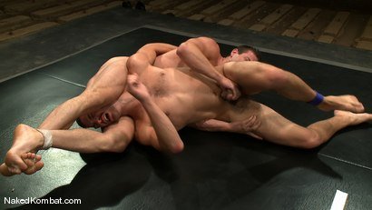 Photo number 7 from Rusty Stevens vs Tommy Defendi <br />The Oil Match shot for Naked Kombat on Kink.com. Featuring Rusty Stevens and Tommy Defendi in hardcore BDSM & Fetish porn.