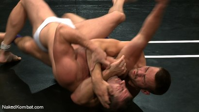 Photo number 3 from Rusty Stevens vs Tommy Defendi <br />The Oil Match shot for Naked Kombat on Kink.com. Featuring Rusty Stevens and Tommy Defendi in hardcore BDSM & Fetish porn.